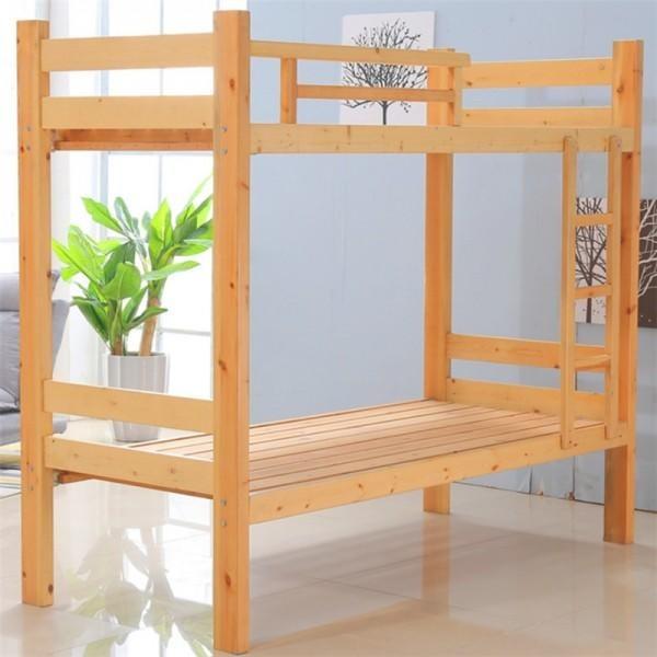大量现货批发 优质实木高低床 上下床实木床 上下铺双层床实木 学生实木上下床定制 宿舍木床源头厂家直供