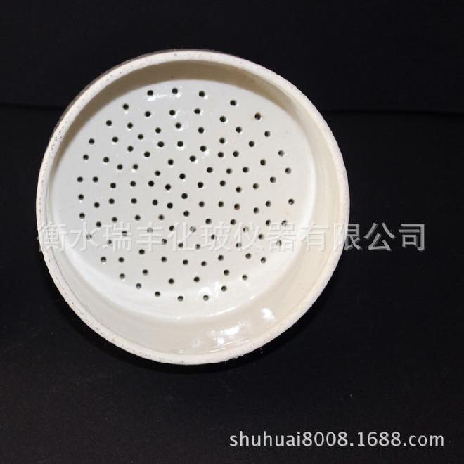 陶瓷漏斗 布氏漏斗抽滤瓶用漏斗扁圆筒状