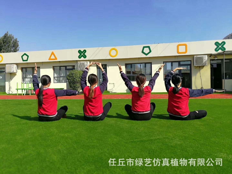 供應幼兒園專用加密仿真草坪 足球場草坪 樓頂綠化草坪示例圖9