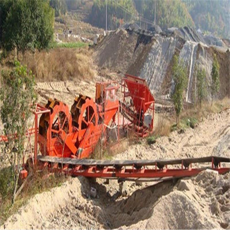 小型环保打砂设备  水洁环保广州公司  流动轮式洗沙机械