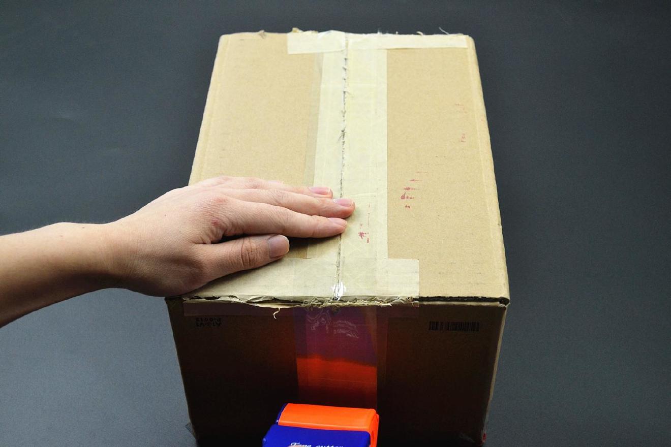 封箱器打包胶带大小号机胶带切割器蓝色封箱带切割面打包器手持示例图19