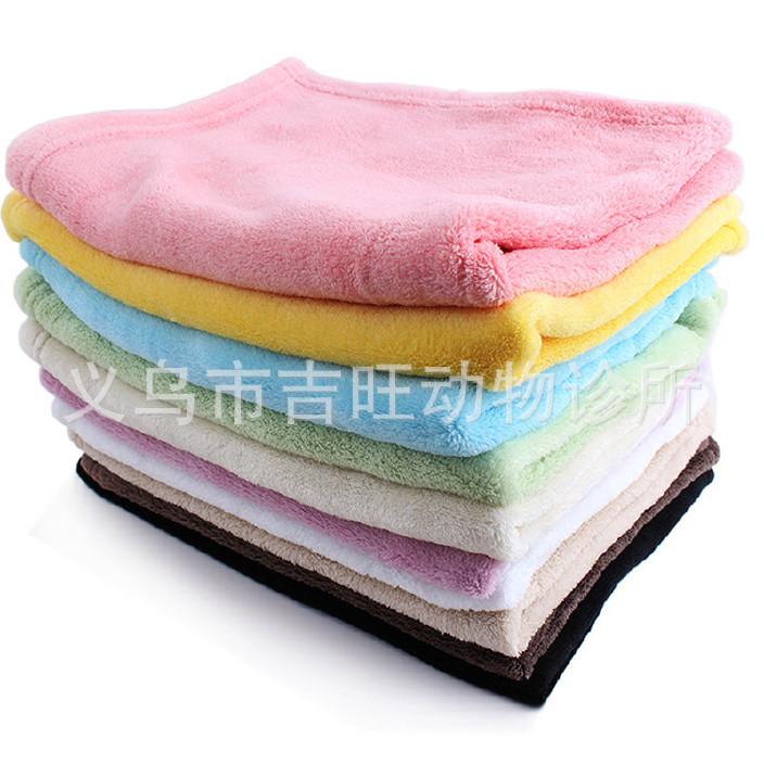 素色珊瑚绒宠物毛毯 猫狗保暖宠物狗垫 超柔 耐脏 颜色随机宠物毯图片