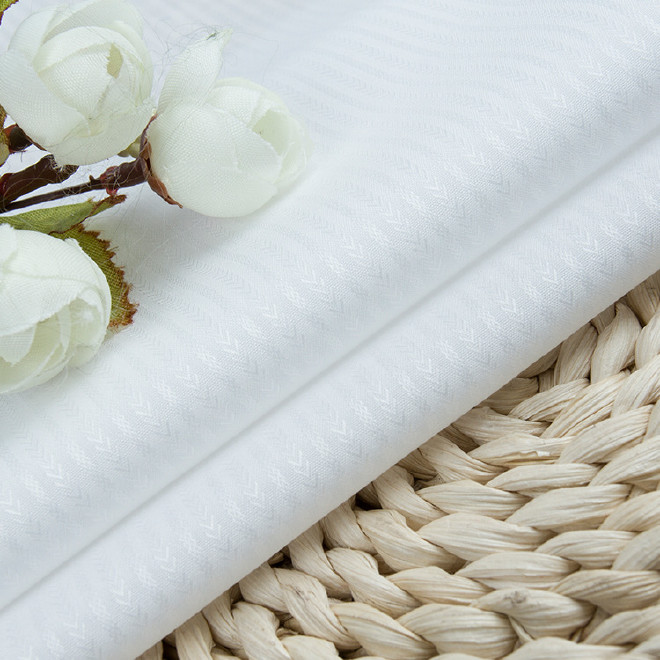 厂家直销现货100/2提花3.0液氨免烫 衬衫面料 男女工作服工装面料图片
