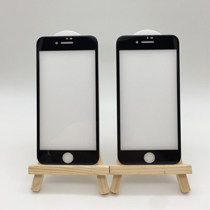 適用蘋果8plus鋼化膜 蝕刻冷雕純白板iPhoneX全屏覆蓋玻璃膜