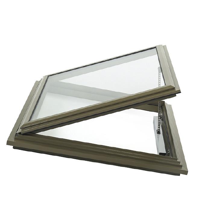 批发 电机隐藏型电动天窗 家装铝合金顶起悬窗 排烟换气异形天窗图片