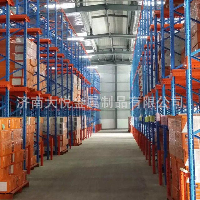 濟南大悅貫通式貨架 食品冷庫通廊式貨架   貫通貨架  加厚重型倉庫駛入式貨架