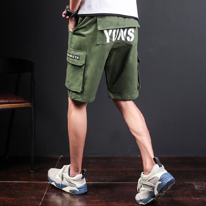 2018年夏季男士多袋短裤宽松男式休闲中裤工装裤男五分裤沙滩裤男图片