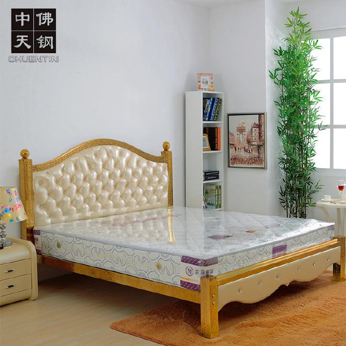 不锈钢公寓出租屋床 组装床1.2 1.5 1.8米 不锈钢单人床 双人床
