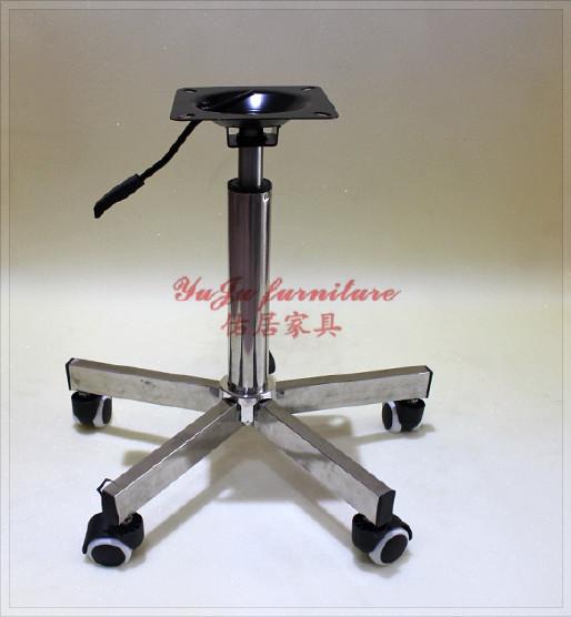 吧椅配件 转椅五爪脚 不锈钢脚椅子配件 旋转椅子底盘配件