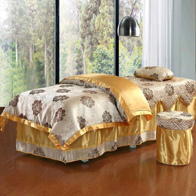 新品 美容床罩四件套 美体按摩床罩 美容院纯棉床上用品支持定做