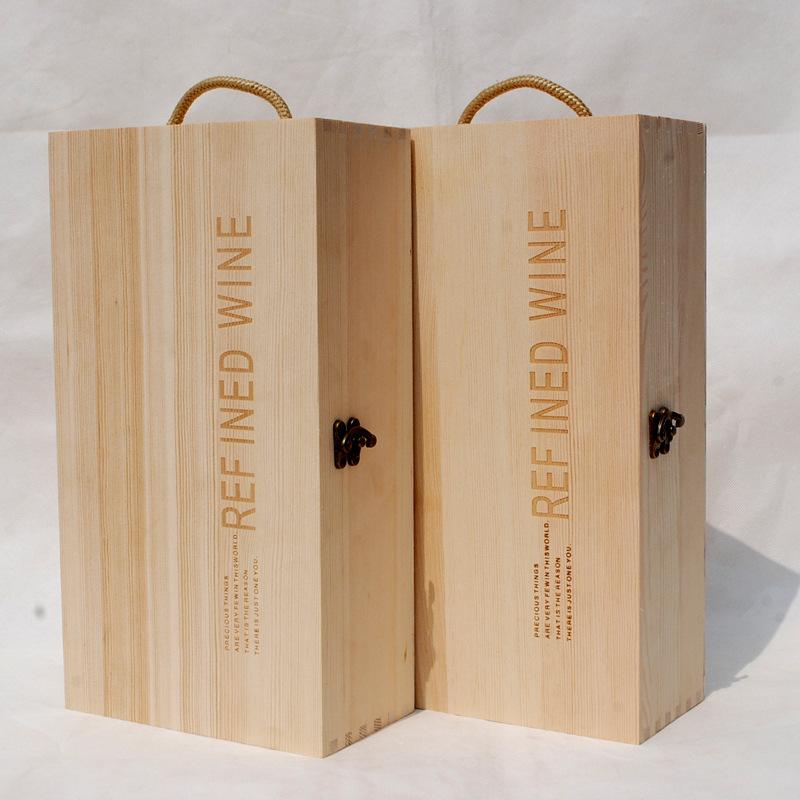 高档双支酒盒红酒包装盒 便携式手提葡萄酒礼品盒厂家定制加工
