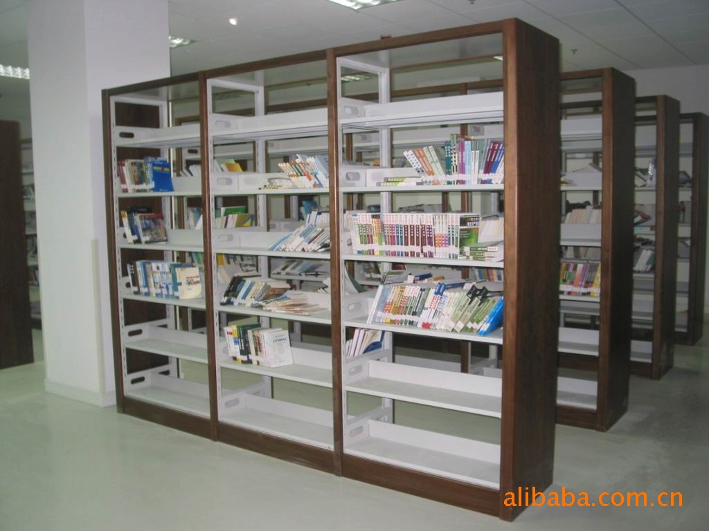 【厂家直销】佛山出口复柱式图书架、报刊架、杂志柜(保修十年)示例图5