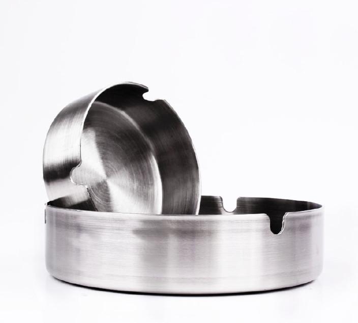 欧式烟灰缸 无磁不锈钢烟缸家用桌面烟具厂家直供