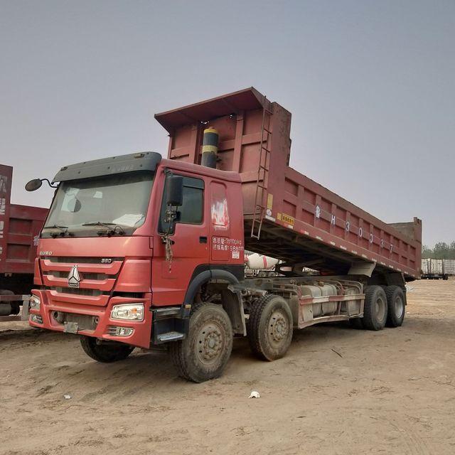联翼   出售原装自卸车 二手工程翻斗车 德龙7米8前四后八自卸车
