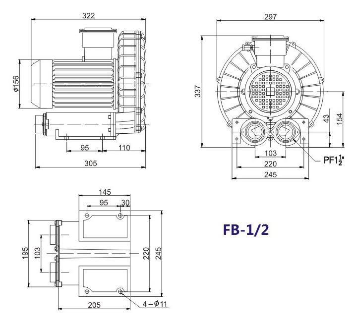 哈尔滨油气输送防爆高压风机 FB-25油气输送防爆高压风机 厂家直销防爆风机示例图12