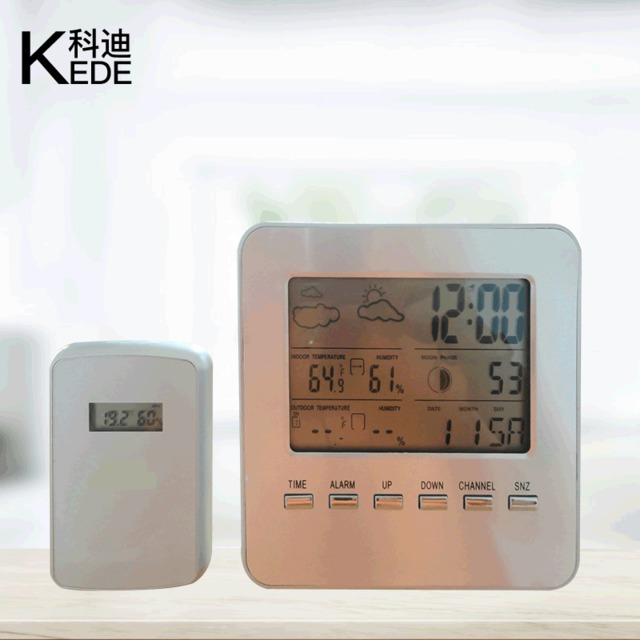 多功能智能氣象電子鬧鐘 LCD led創意數字時鐘 溫度 濕度 日歷貪睡 天氣預報時鐘