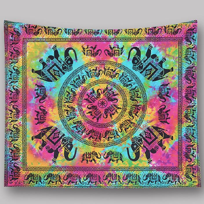 来图亚马逊ebay速卖通wish印度挂毯数码印花沙滩巾曼陀罗地毯批发图片
