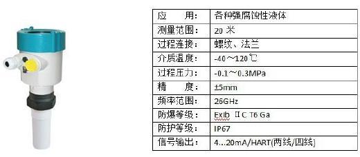 浆料储罐雷达液位计 耐腐蚀雷达物位计 棒式雷达料位计示例图1