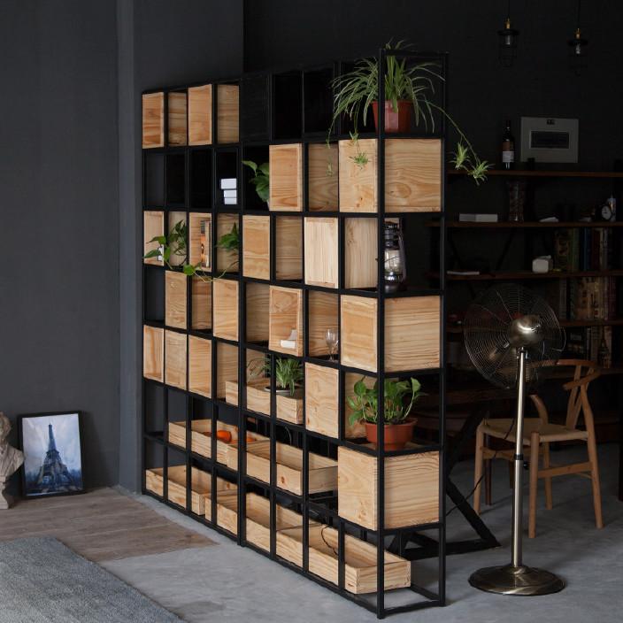 定做 绿植室内隔断铁架屏风书架置物架植物架创意办公室餐厅花架图片