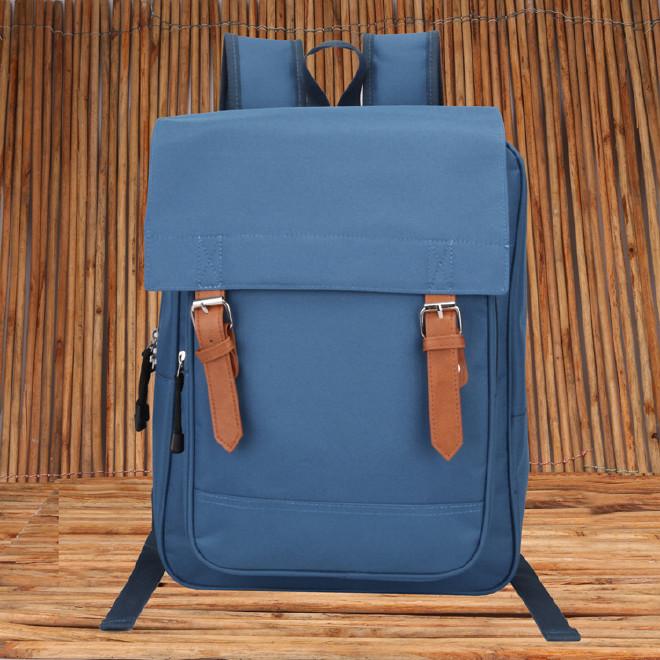 2016新款时尚韩版学院风带盖双肩学生书包 纯色休闲旅游包批发示例图37