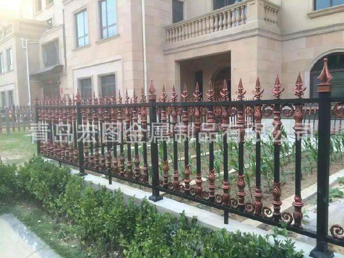 城阳青岛厂家直销铝艺花园栏杆围墙铝艺大门别宁波空中别墅图片