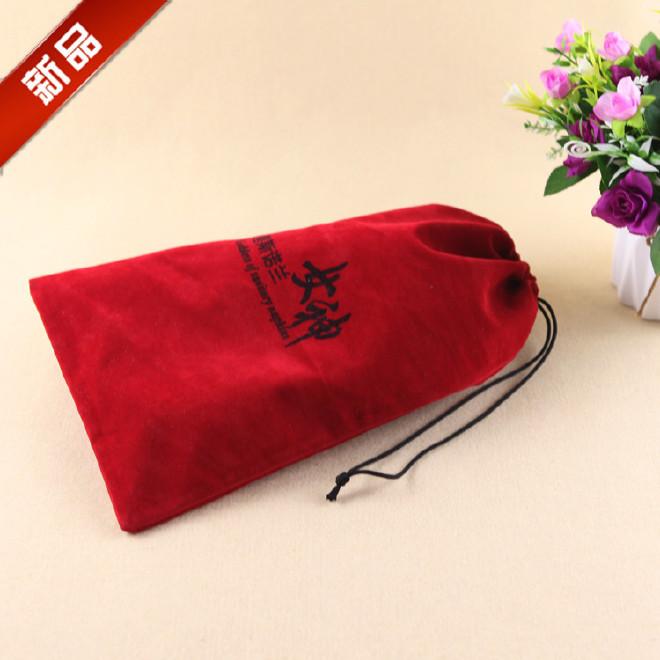 大量销售 礼品束口袋 绒布束口袋 环保小束口袋 刺绣绒布袋定做图片