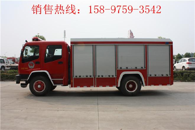 大丰庆铃举高喷射消防车,抢险救援消防车图片