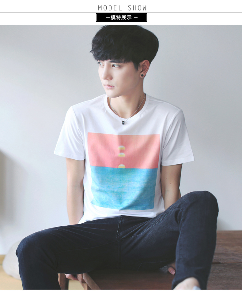 2017新款夏季男『士短袖t恤男式�棉日系男�b�A�I�n版休々�e�S家直�N∑ 示例�D7