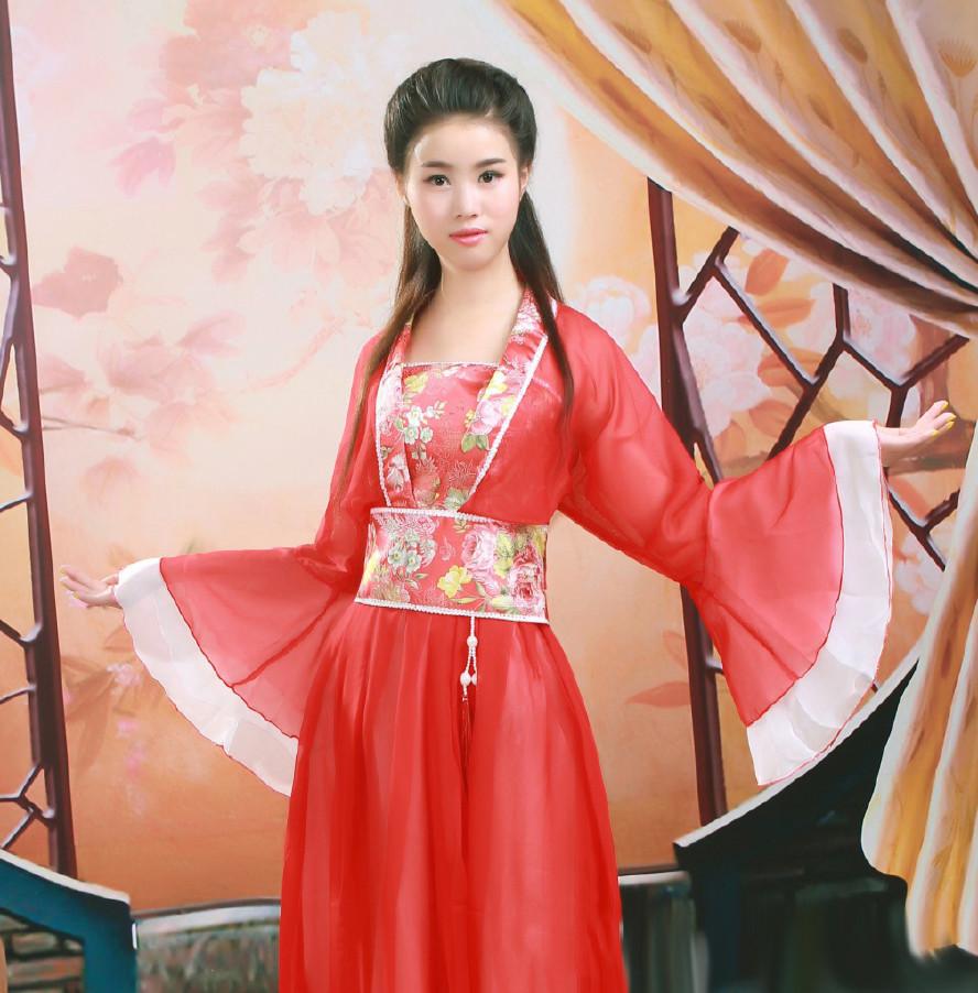 唐风工艺童装连衣裙七仙女古装摄影演出服装舞