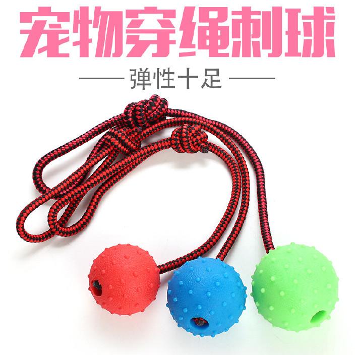 狗狗橡胶玩具球 宠物抛掷吊球 宠物益智玩具 一件代发宠物玩具图片