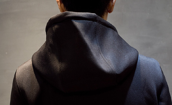 男式�l衣潮牌太空棉�l衣定制�B帽�n版修身�_衫日系男�b棒球服外套示例�D31