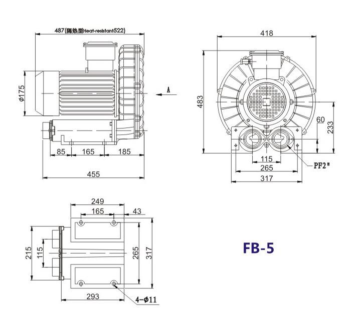 哈尔滨油气输送防爆高压风机 FB-25油气输送防爆高压风机 厂家直销防爆风机示例图16