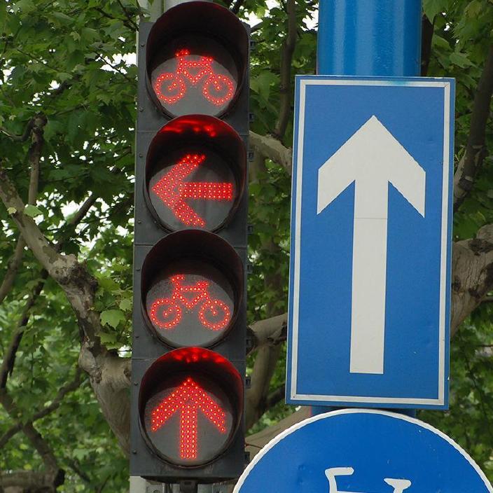 厂家直销非机动车信号灯 人行道交通信号灯交通信号红绿灯