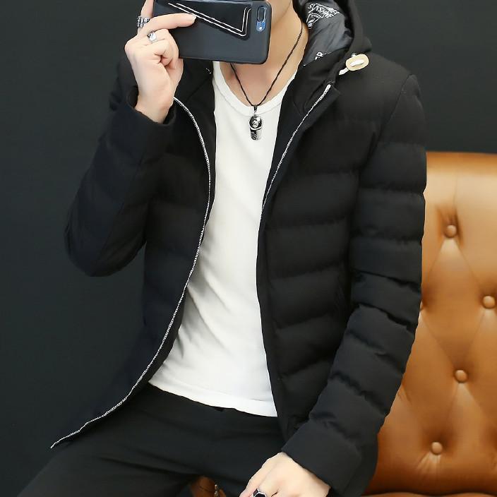 冬季新款男士棉衣外套韩版修身羽绒棉服潮流男装加厚保暖男士棉服图片