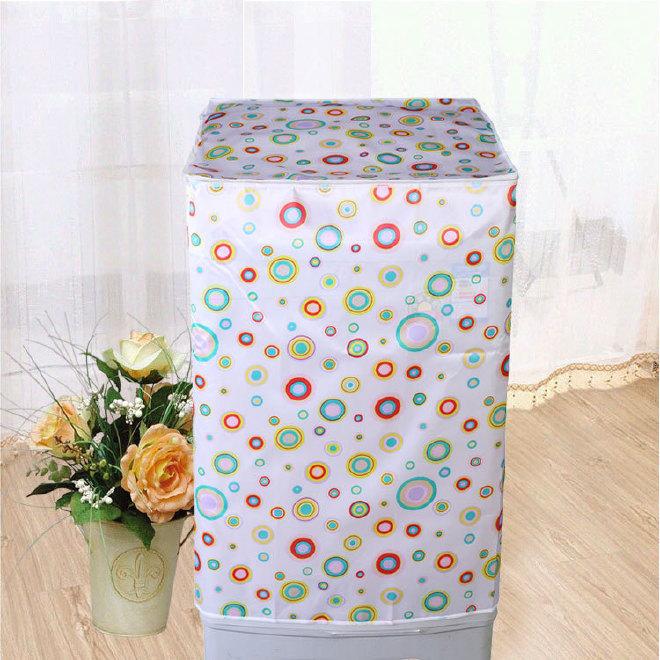 洗衣机罩 色丁布保护洗衣机防尘罩海尔 防晒洗衣机套全自动滚筒