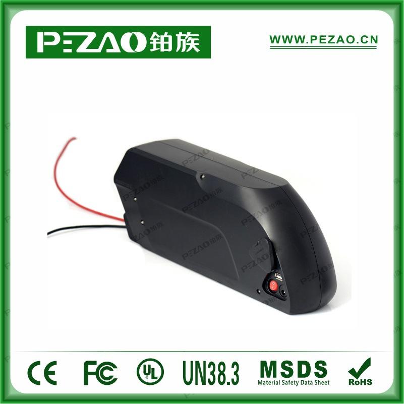铂族电池 虎鲨款锂自行车电池/锂电车动力电池组/18650锂动力电池组 48V10-17.5Ah电池组示例图2