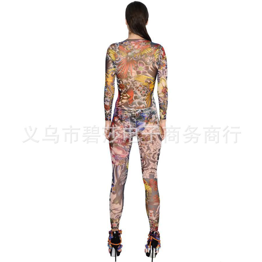 1件起来图定做 纹身连体衣 刺青连体衣服 无痛全身纹身 厂家直销图片