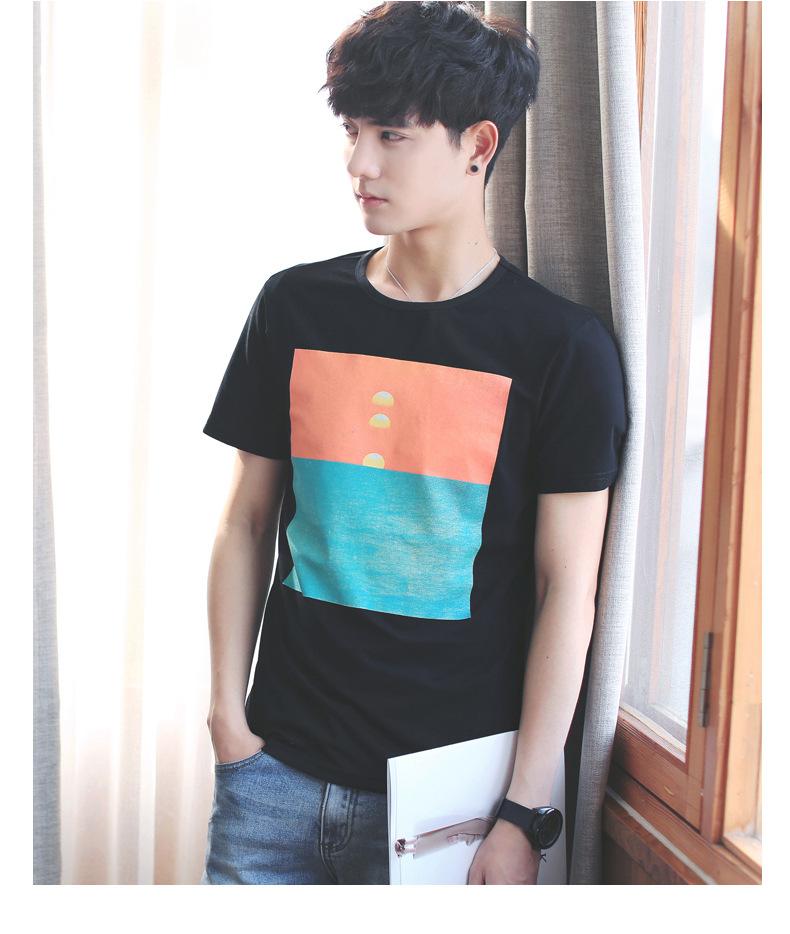 2017新款�z夏季男士短袖t恤男式�K�棉日系男�b�A�I�n版休�e�S家直�玟N示例�D16