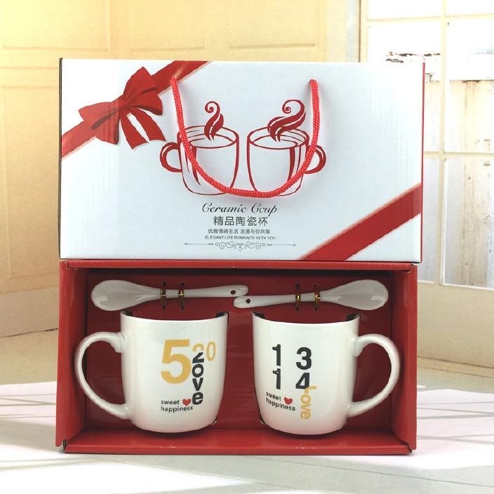 厂家直销手提绳陶瓷杯礼品盒情侣杯日用品马克杯广告杯制LOGO批发图片