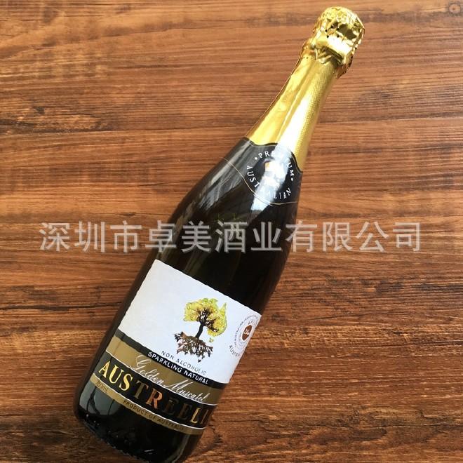 澳洲原瓶进口 澳芝醇无醇白起泡酒 甜葡萄酒 无酒精甜气泡酒