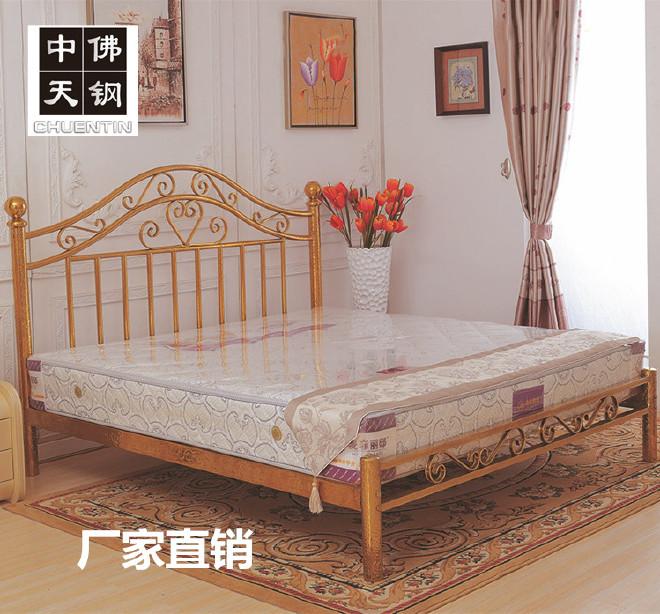 美式乡村钛金不锈钢床 单人床1.5米 双人床1.8米 彩色不锈钢床