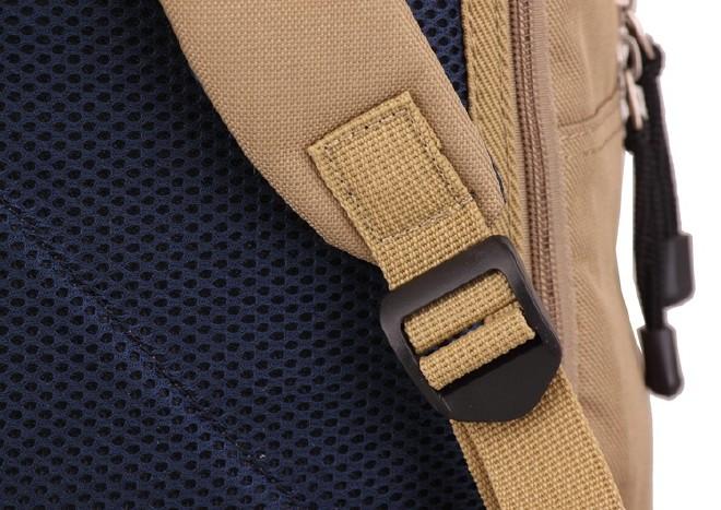 2016新款简约纯色双口袋背包 时尚休闲款运动包学生书包直销示例图31