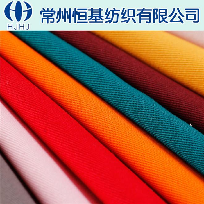 恒基纺织厂家定制全棉弹力纱卡 10858服装面料专用纱卡 工装面料图片