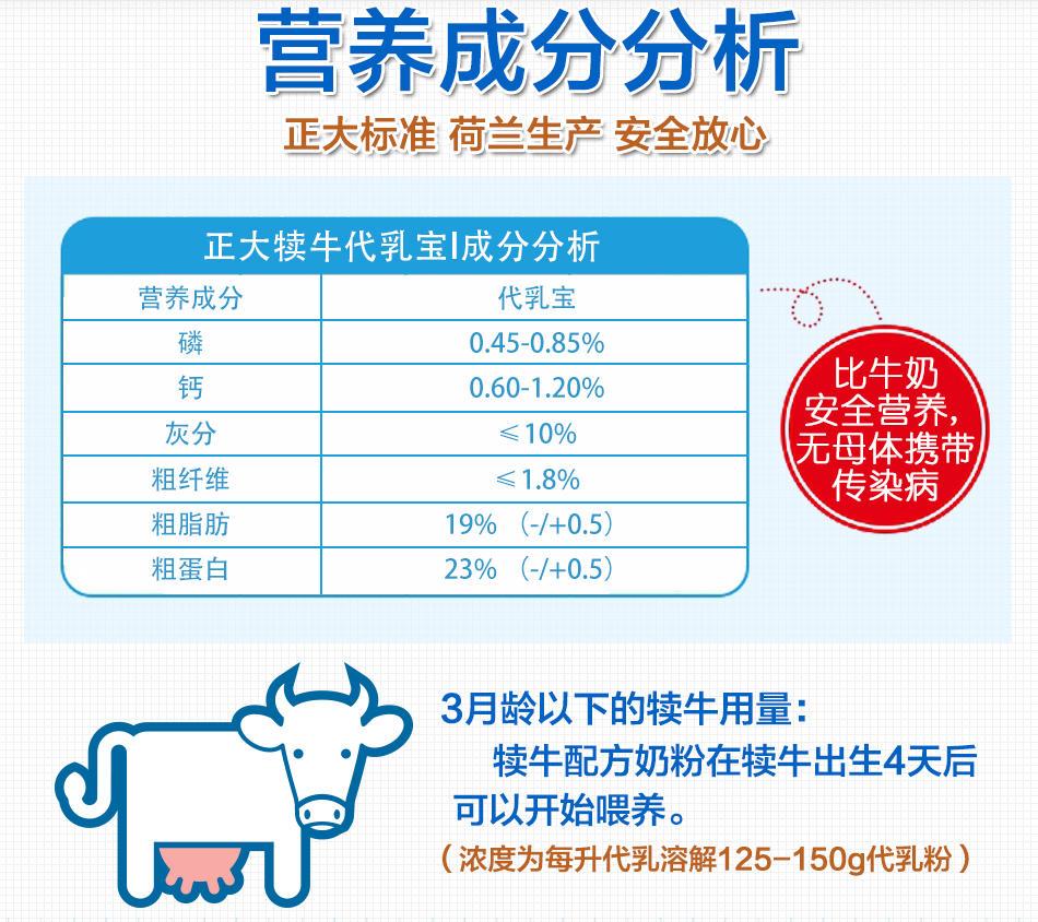 犊牛代乳粉正大犊牛代乳粉示例图5