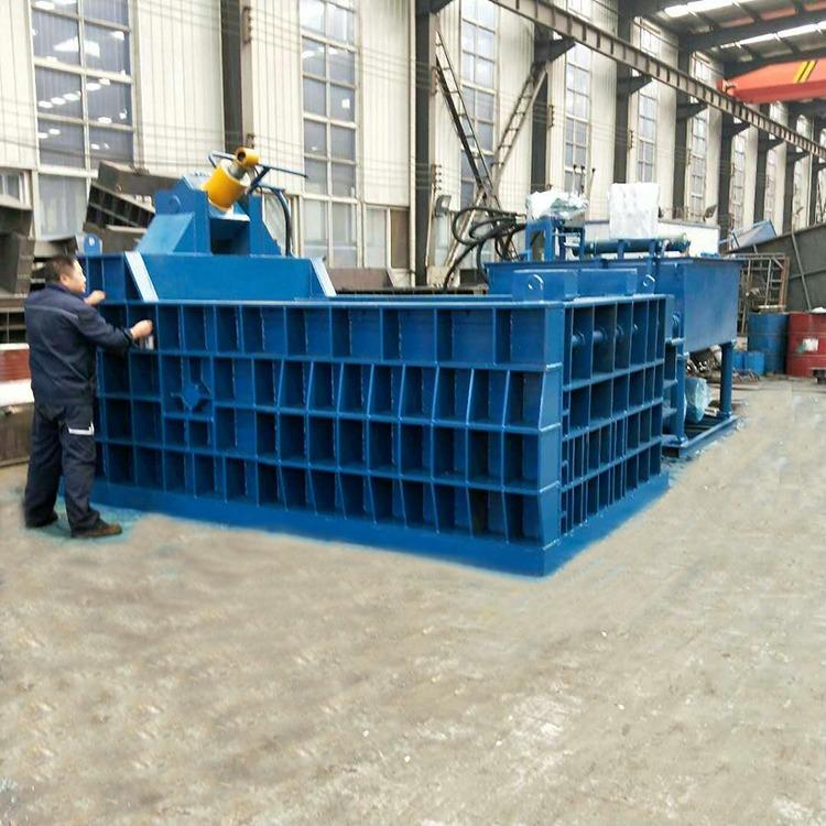 供應大型金屬壓塊機 臥式廢金屬壓塊機 鐵桶油漆桶壓塊機 廢舊金屬壓塊機 廢鐵打包機 250噸金屬壓塊機