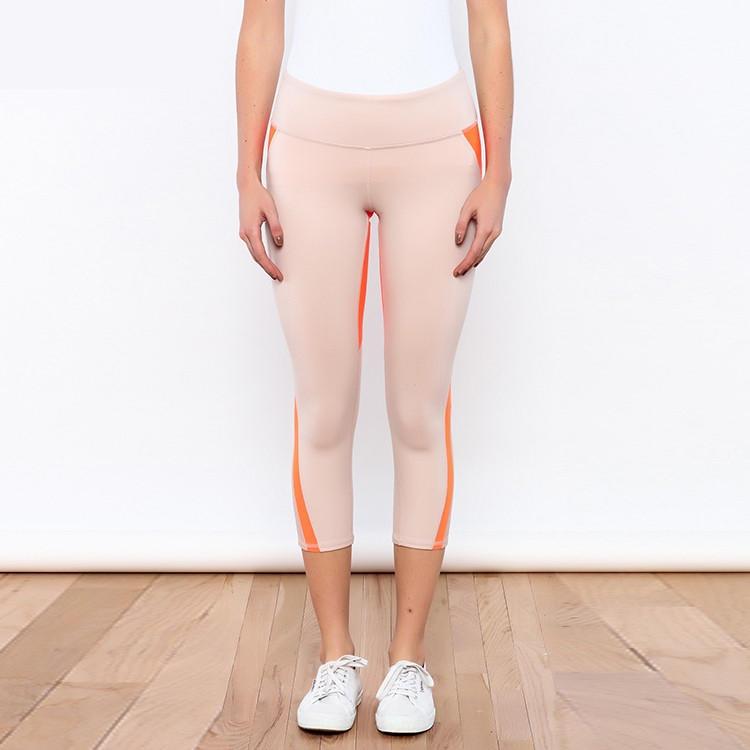 樂尼瑜伽服加工瑜伽褲女緊身七分褲跑步運動中高腰瑜伽服健身褲2019新品透氣 廣州瑜伽服加工廠 瑜伽服貼牌