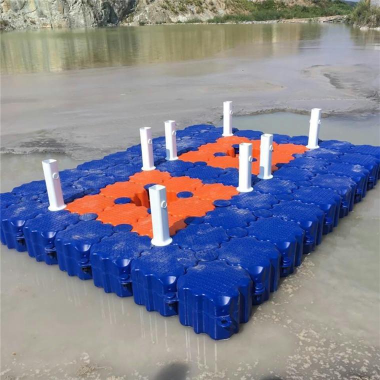 水上平台浮筒钓鱼平台塑料栏杆游艇码头配套专用设施浮箱