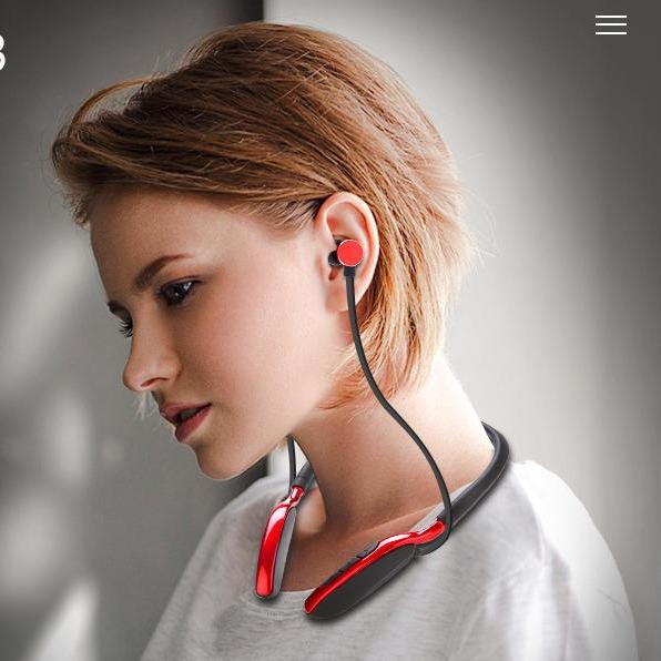 DODGE 入耳式无线蓝牙耳机 运动挂脖颈挂式跑步礼品耳机 可插内存卡 双耳金属磁吸苹果华为小米通用耳麦erji