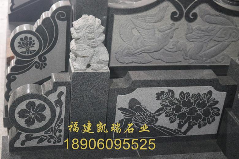 福建凯瑞石业直销芝麻黑墓碑 城市公墓墓碑 传统墓碑造型可支持定制示例图10