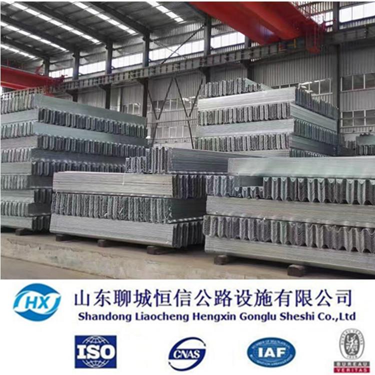 恒信生产厂家  护栏板 防腐防生锈道路防撞波形板 公路防护板价格  两波护栏板  W型板示例图10
